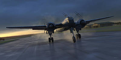 Fighters Digital Art - Into The Night by Robert Perry
