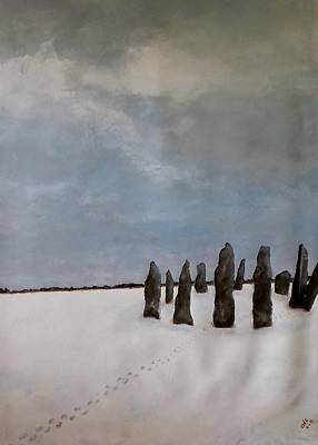 Megalith Painting - Into The Stones by Catherine JN Christopher