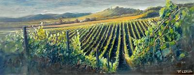 Into The Vineyard - Tuscany Original by Fabio Cartoni