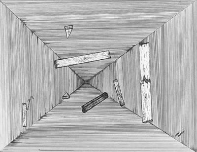 Surreal Drawing - Into The Void by Dan Twyman