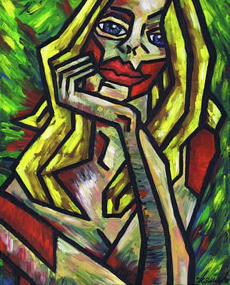 Polish Painters Painting - Intrigued by Kamil Swiatek