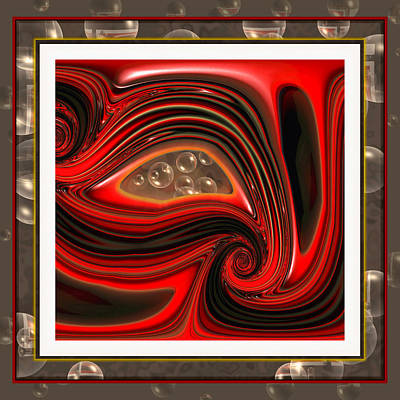 Wendy J. St. Christopher Digital Art - Introspection by Wendy J St Christopher