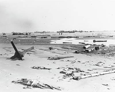 Omaha Photograph - Invasion Of Normandy by Us Navy