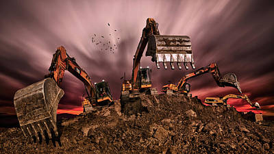 Construction Photograph - Invasion by Peter Majkut