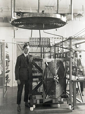 Inventor Henri Fenal Print by Underwood Archives