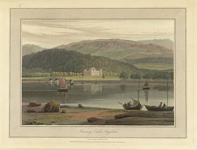 Inverary Castle In Argyllshire Print by British Library
