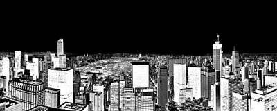 Dark Skies Photograph - Inverted Central Park View by Az Jackson