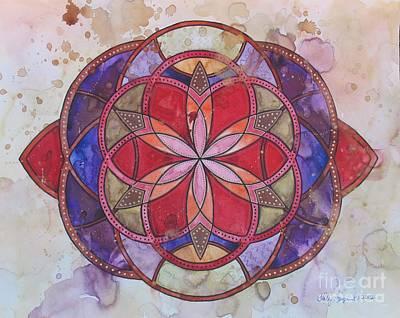 Invictus Mandala Original by Holly Burger