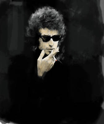 Bob Dylan Drawing - Inwardly Faded  Bob Dylan by Iconic Images Art Gallery David Pucciarelli