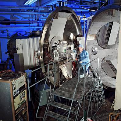 Ion Photograph - Ion Thruster Testing by Nasa
