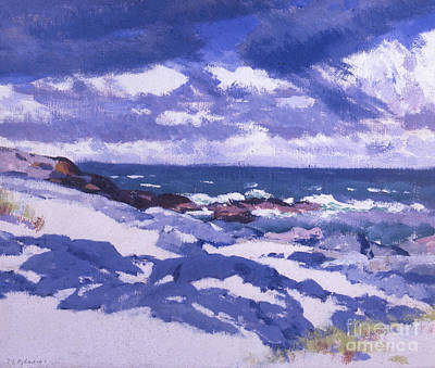 Cloudy Day Painting - Iona Above Mermaids by Francis Campbell Boileau Cadell
