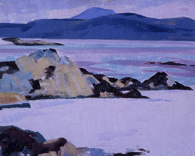 Cloudy Day Painting - Iona  The North End by Francis Campbell Boileau Cadell