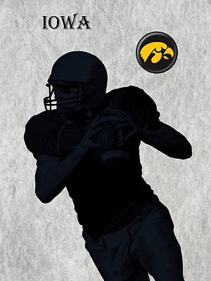 Michigan State Digital Art - Iowa Football  by David Dehner