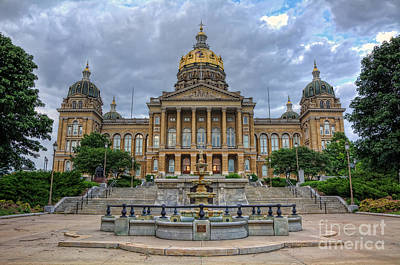 Iowa State Capitol Print by Eddie Yerkish