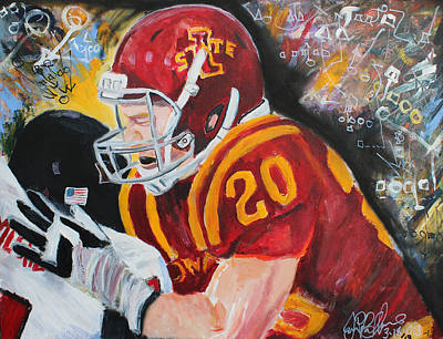 Painting - Iowa State Football  by Jon Baldwin  Art