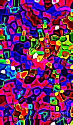 Iphone Cases Colorful Intricate Geometric Covers Cell And Mobile Phone Art Carole Spandau Cbs 161 Print by Carole Spandau