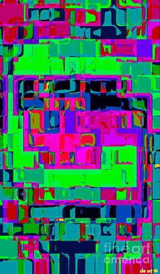 Iphone Cases Colorful Intricate Geometric Covers Cell And Mobile Phone Art Carole Spandau Cbs 162 Print by Carole Spandau