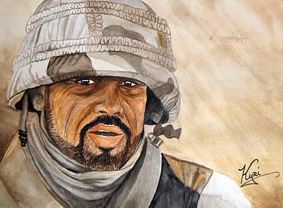 Iraqi National Guardsman Print by Annette Redman