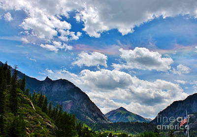 Iridescent Clouds Above Ouray Colorado Print by Janice Rae Pariza
