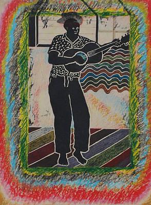 Lino Cut Painting - Irie Reggae 1 by John Powell