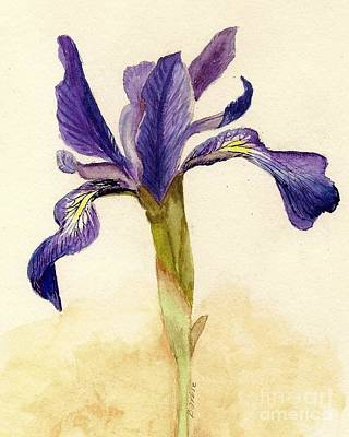 Delicate Details Painting - Iris by Barbie Corbett-Newmin