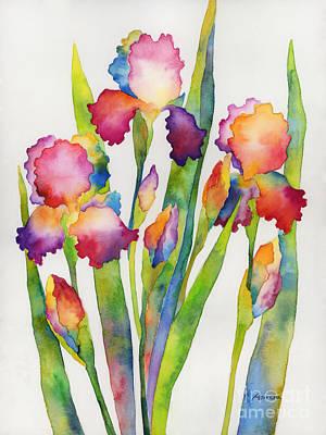 Iris Elegance Print by Hailey E Herrera