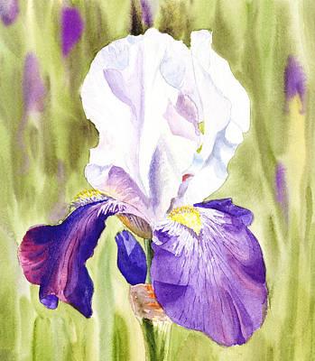 Iris Flower Purple Dance Print by Irina Sztukowski