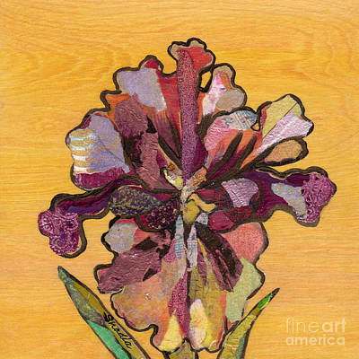 Iris Painting - Iris I Series II by Shadia Zayed