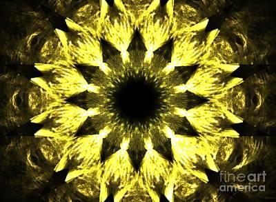 Solar Eclipse Digital Art - Iris Sun by Kim Sy Ok