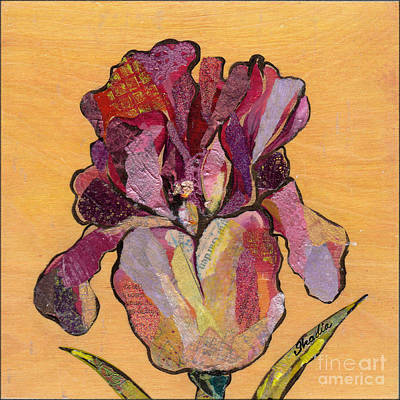 Floral Painting - Iris V  - Series V by Shadia Zayed