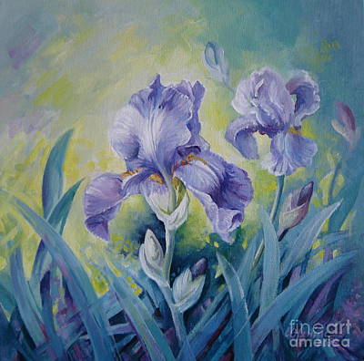 Irises Original by Elena Oleniuc