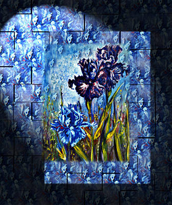 Nature Painting - Irises Fantasy by Harsh Malik