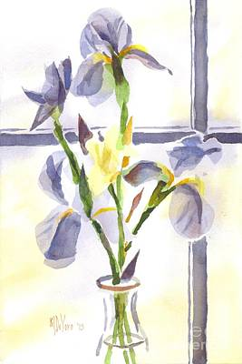 Irises In The Window II Original by Kip DeVore
