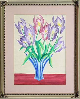 Irises Original by Ron Davidson