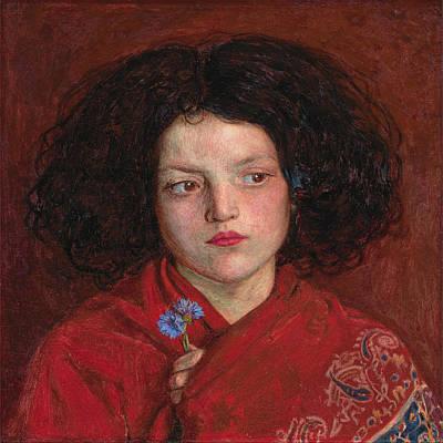 Pre-raphaelite Painting - Irish Girl by Philip Ralley