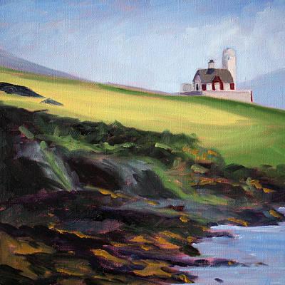 Pleasant Painting - Irish Lighthouse by Nancy Merkle