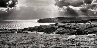 Irish Sea And Coast Print by Thomas R Fletcher