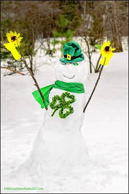 Fairies Photograph - Irish Snowman by LeeAnn McLaneGoetz McLaneGoetzStudioLLCcom