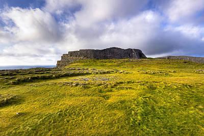 Iron Age Ruins Of Dun Aengus On The Irish Coast Print by Mark E Tisdale