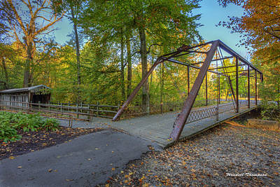 Daviess County Photograph - Iron Bridge At Yellow Creek by Wendell Thompson