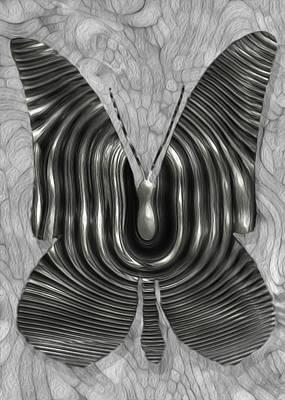 Merging Digital Art - Iron Butterfly by Jack Zulli