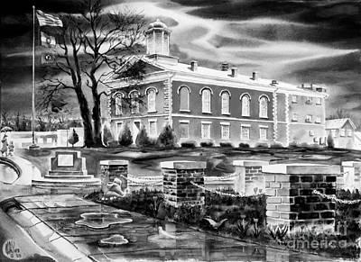Iron County Courthouse IIi - Bw Print by Kip DeVore