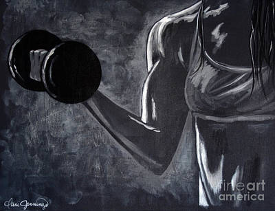 Bodybuilding Painting - Iron Girl by Dani Abbott