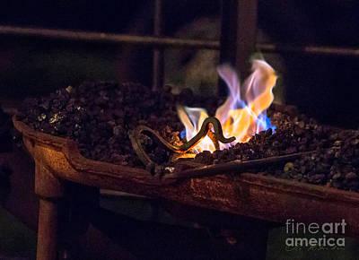 Iron In Fire Print by Iris Richardson