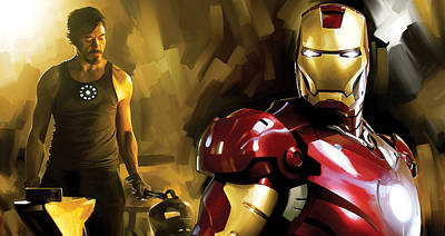 Iron Man Artwork Print by Sheraz A