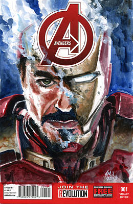Iron Man Print by Ken Meyer jr