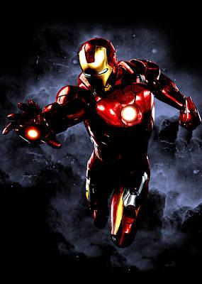 Iron Man Digital Art - Iron Man Space by Renato Armignacco