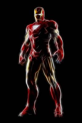 Iron Man - Tony Stark Print by - BaluX -