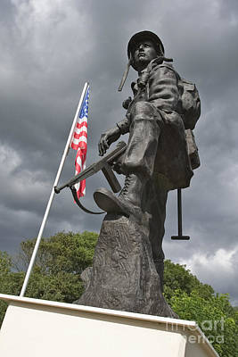101st Airborne Division Photograph - Iron Mike Us Airborne Forces Memorial St Mere Eglise Normandy France Europe by Jon Boyes