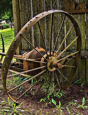 Iron Wheel Print by Ron Roberts